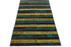 Patchwork Teppich Lila Türkis Gelb in 250x160cm