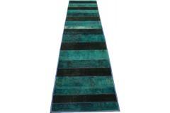 Patchwork Teppich Läufer Türkis in 310x80cm