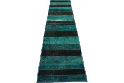 Patchwork Teppich Türkis in 310x80cm 1001-924