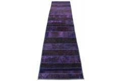 Patchwork Teppich Läufer Lila in 310x80cm