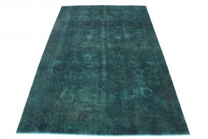 Vintage Teppich Dunkel Türkis in 390x250