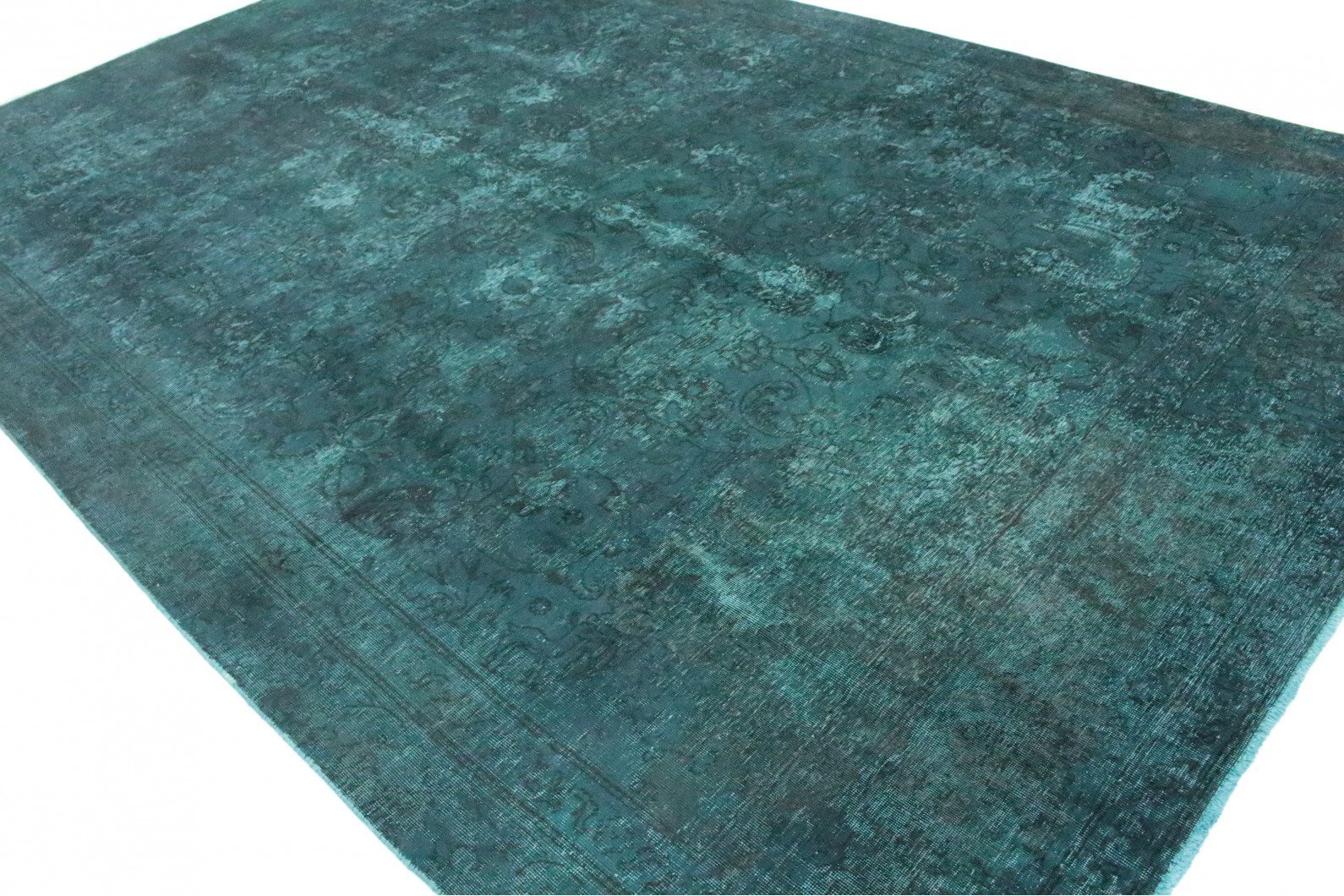 vintage teppich dunkel t rkis in 390x250 1001 9988 bei. Black Bedroom Furniture Sets. Home Design Ideas