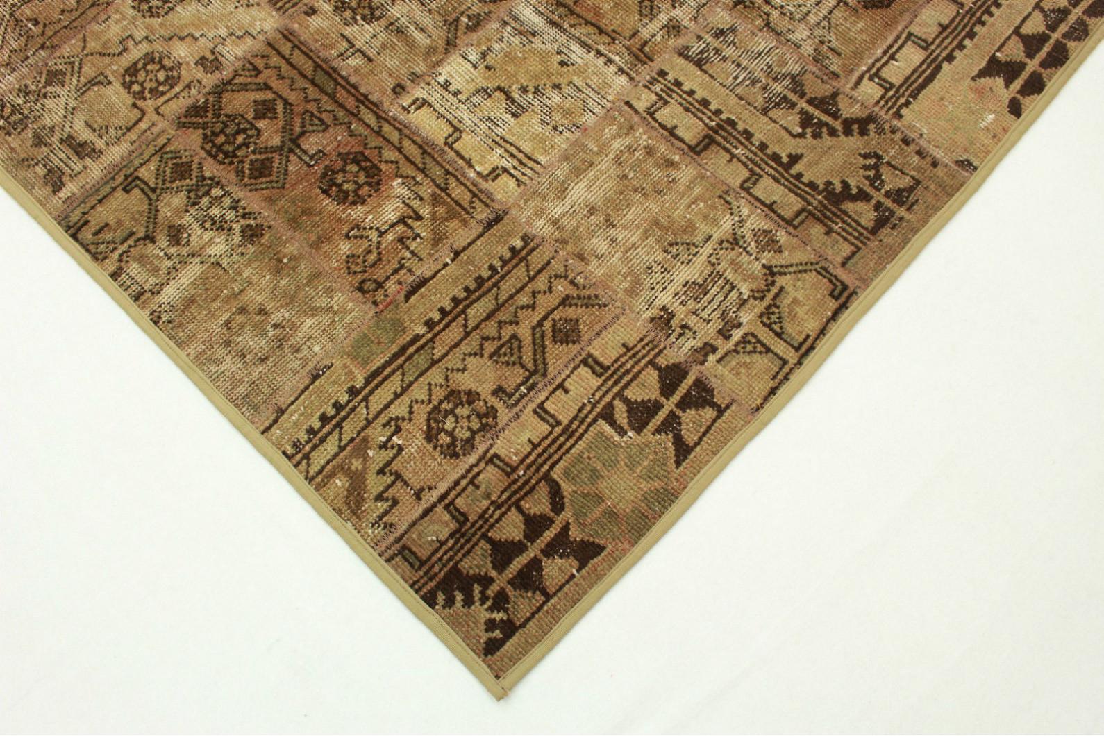 patchwork teppich braun in 200x120cm 1001 999 bei. Black Bedroom Furniture Sets. Home Design Ideas