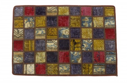 Patchwork Teppich in 90x60