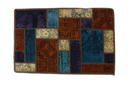 Patchwork Teppich in 90x60