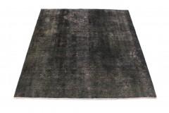 Vintage Teppich Schwarz Rosa in 160x150