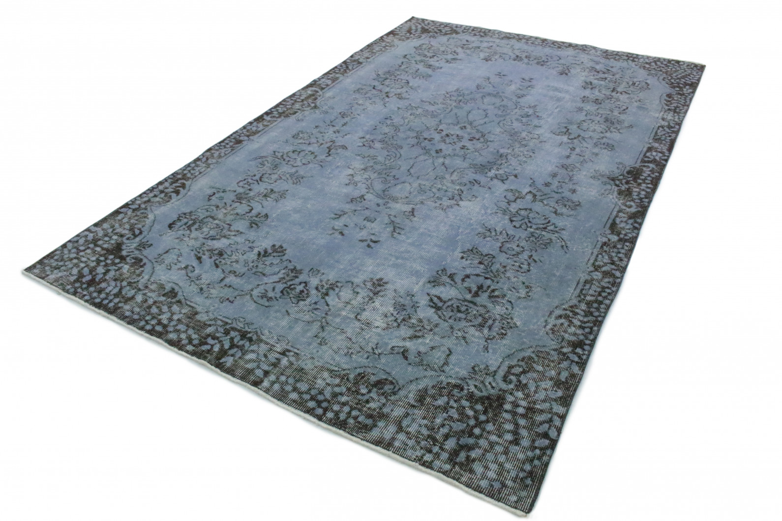 vintage teppich blau grau in 270x170 1011 1138 bei. Black Bedroom Furniture Sets. Home Design Ideas