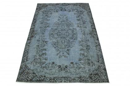 Vintage Teppich Blau Grau in 260x170