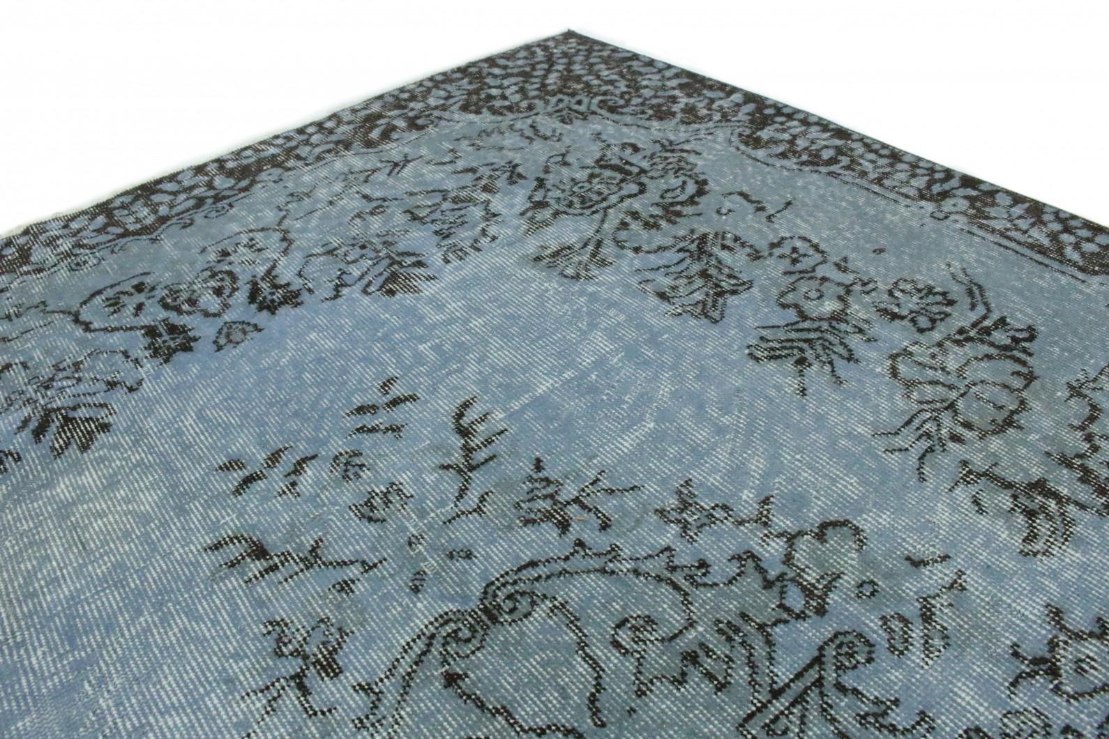 vintage teppich blau grau in 260x170 1011 1187 bei. Black Bedroom Furniture Sets. Home Design Ideas