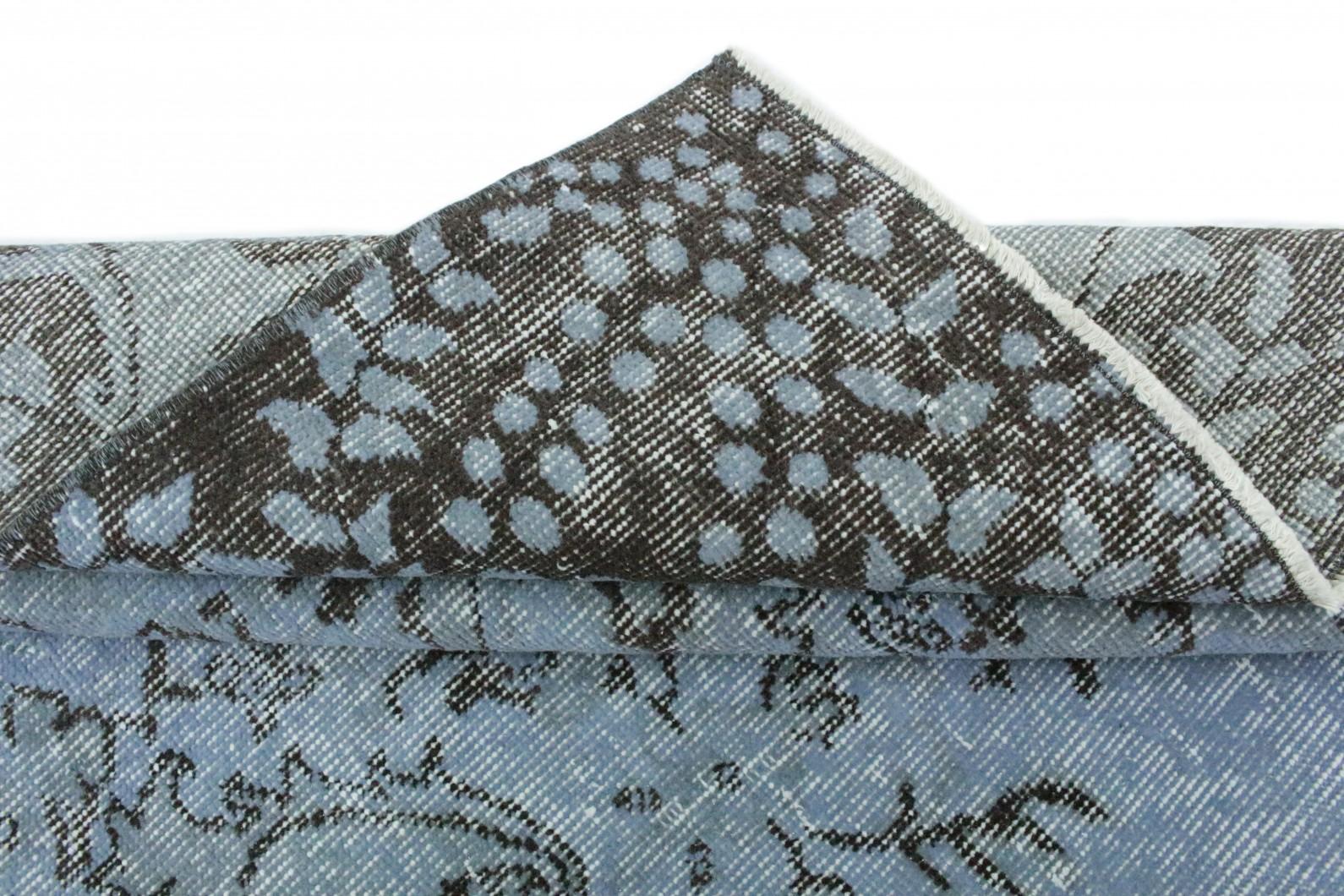 Vintage Teppich Blau Grau In 260x170 1011 1187 Bei Carpetido De Kaufen