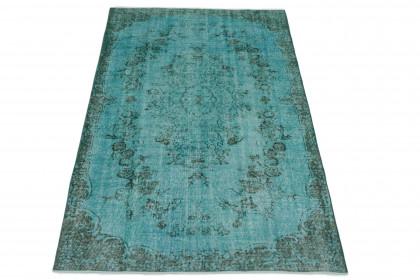 Vintage Teppich Türkis in 280x170