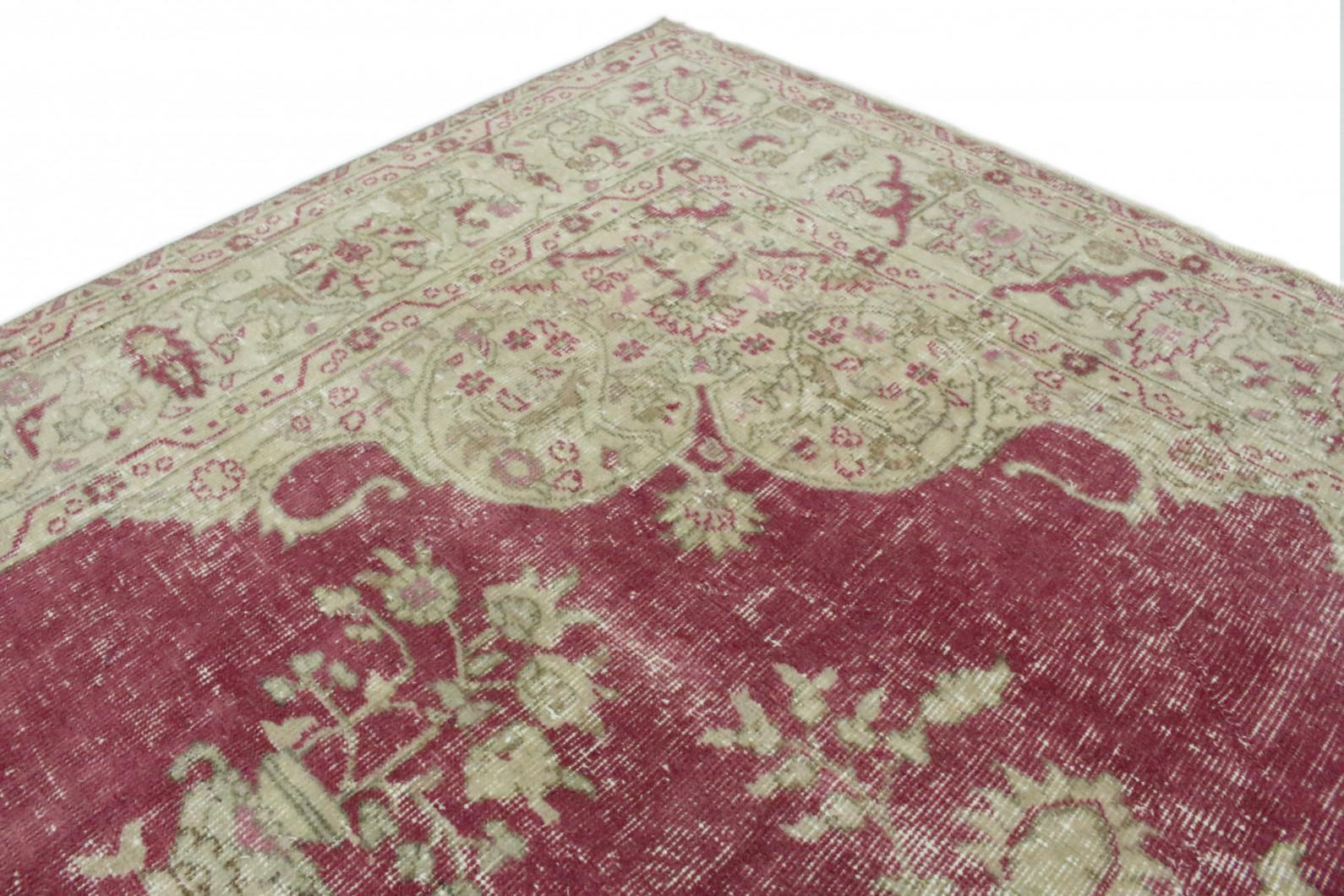 vintage teppich beige rot in 300x200 1011 1292 bei. Black Bedroom Furniture Sets. Home Design Ideas