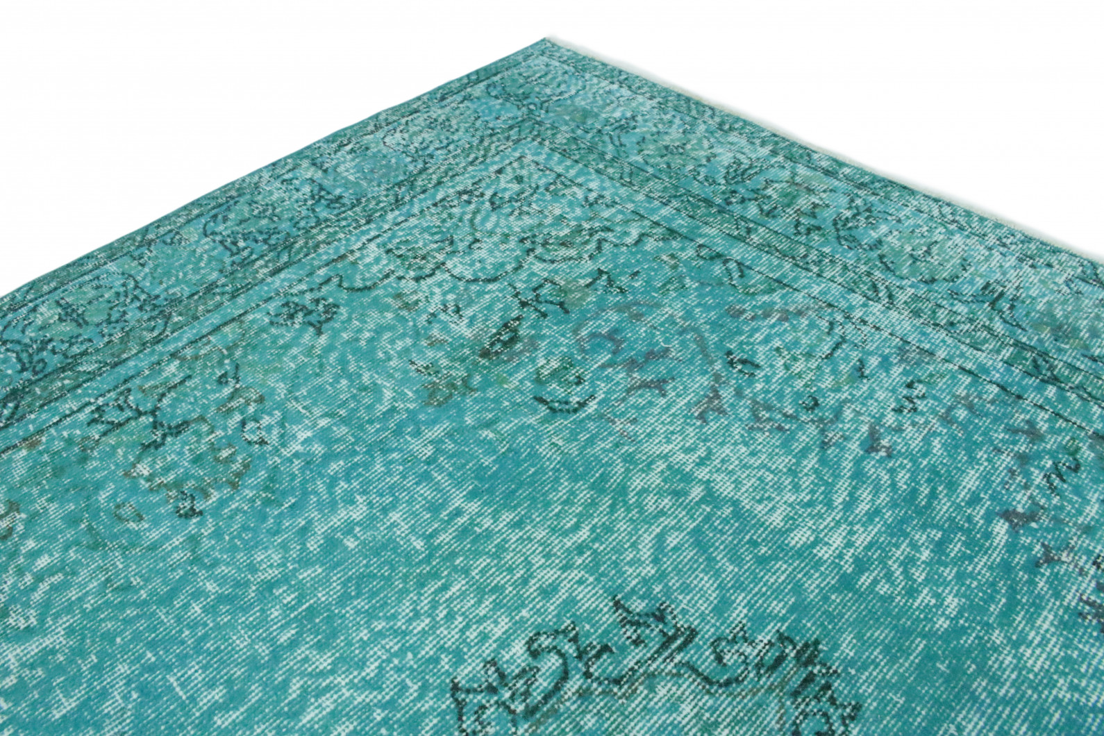 vintage teppich t rkis in 290x190 1011 1334 bei. Black Bedroom Furniture Sets. Home Design Ideas