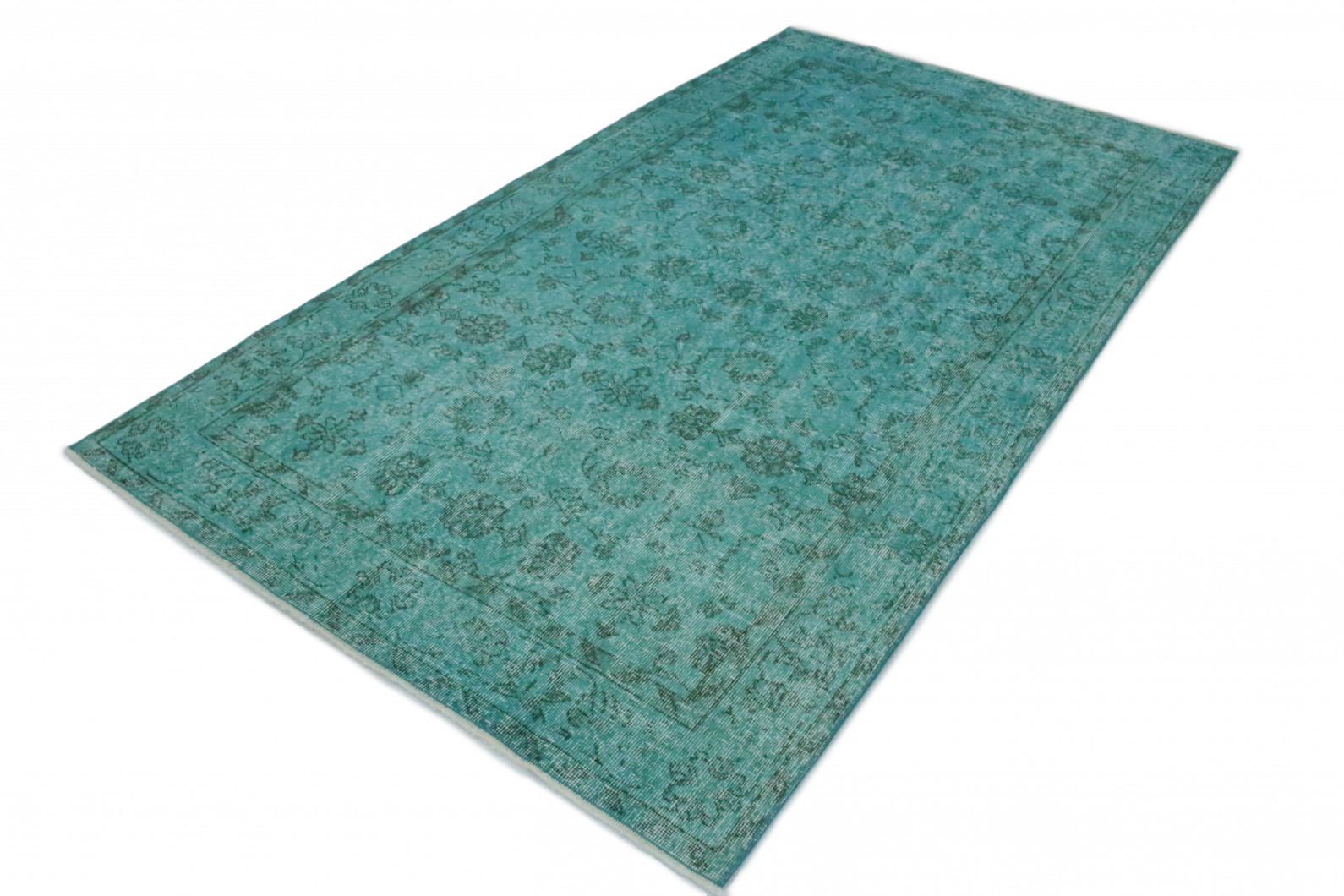 vintage teppich t rkis in 250x140 1011 1335 bei kaufen. Black Bedroom Furniture Sets. Home Design Ideas