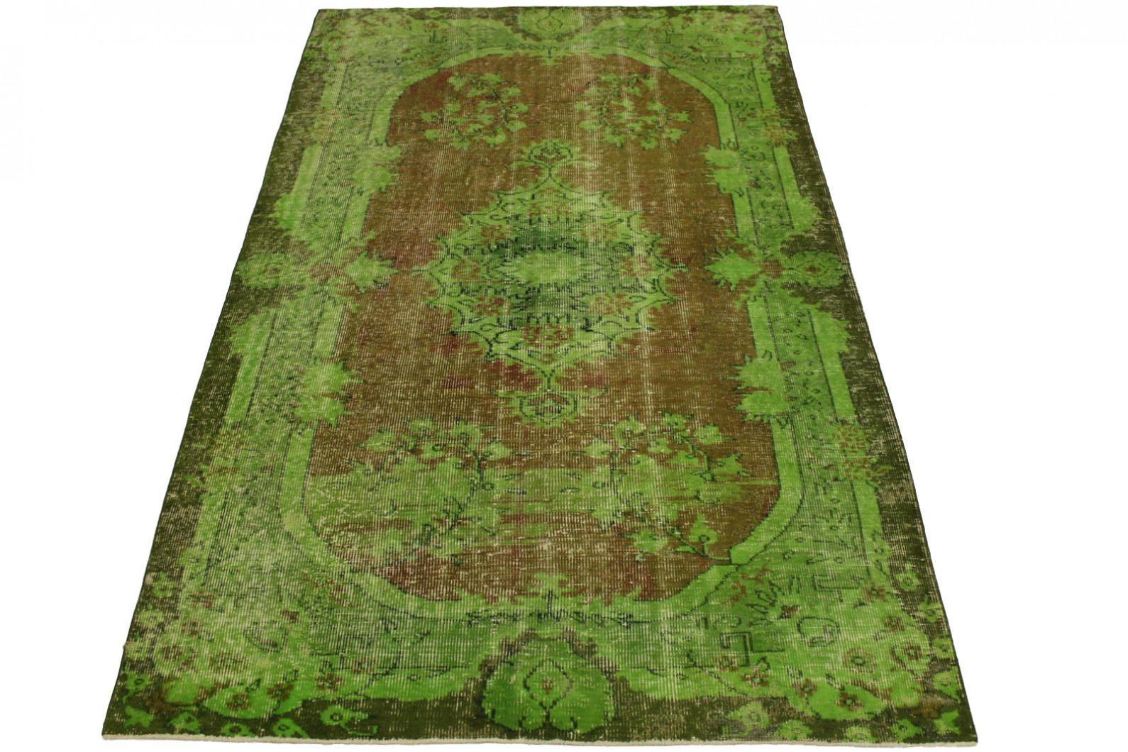 vintage teppich gr n braun in 280x190cm 1011 27 bei kaufen. Black Bedroom Furniture Sets. Home Design Ideas