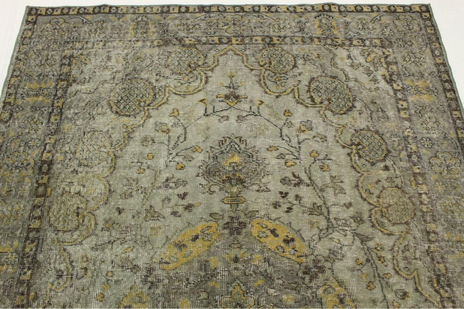 Vintage Teppich Grau In 270x170cm 1011 2900 Bei Carpetido De Kaufen