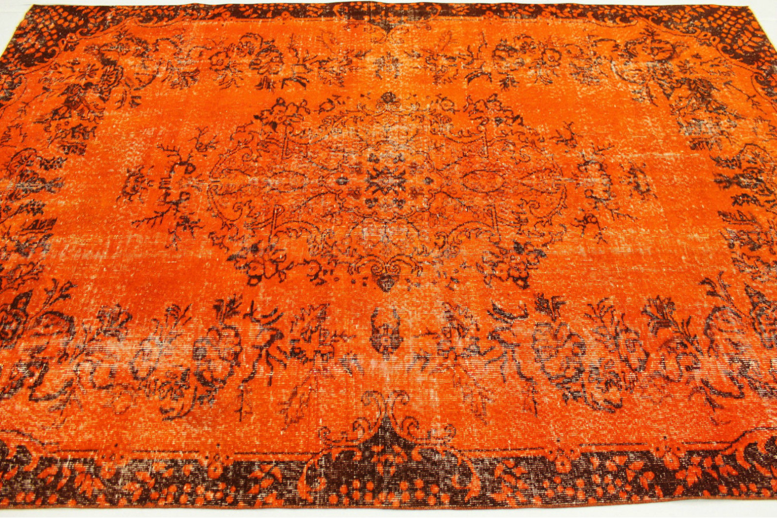 Teppich orange  Vintage Teppich Orange in 290x190cm (1011-30) bei carpetido.de kaufen