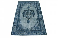 Vintage Teppich Blau in 250x150