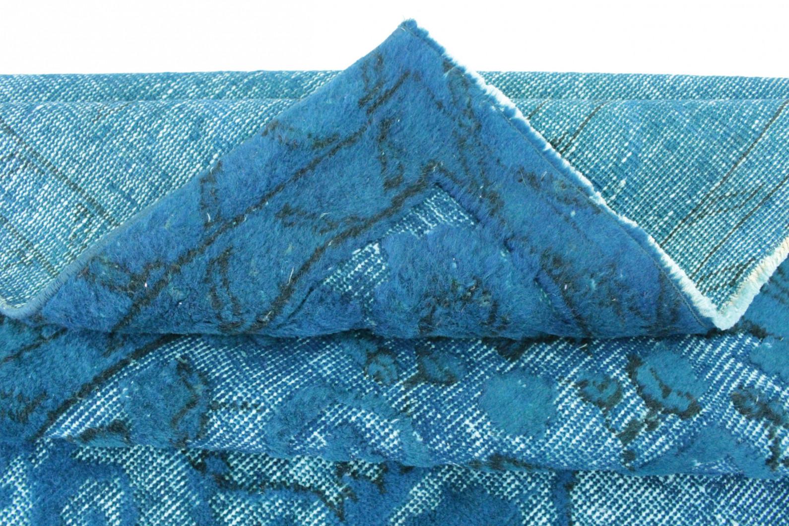vintage teppich blau t rkis in 310x210 1011 3104 bei