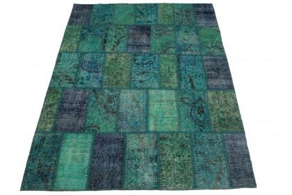 Patchwork Teppich Türkis in 200x170cm 1011-5004