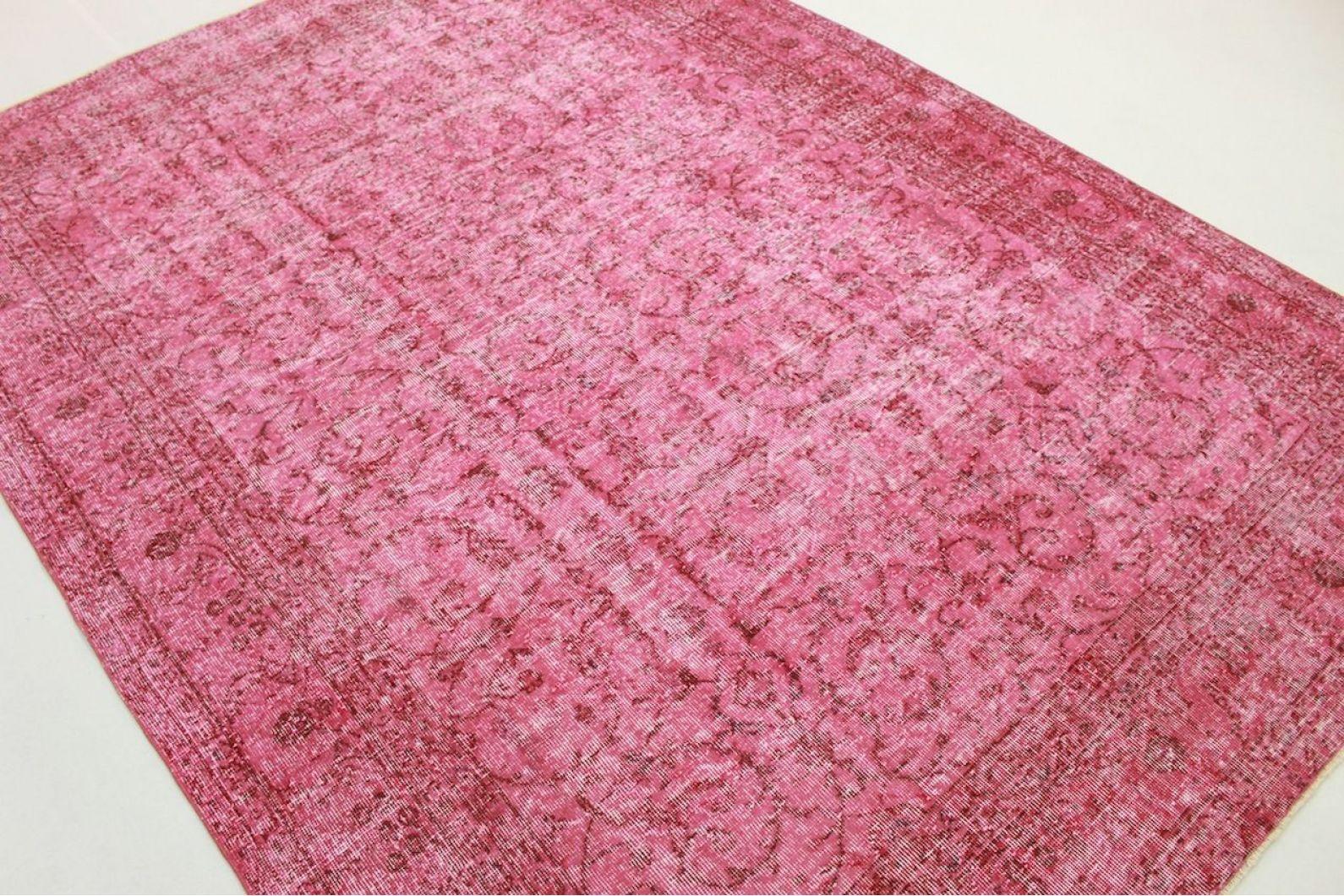 vintage teppich pink in 300x220cm 1011 5110. Black Bedroom Furniture Sets. Home Design Ideas