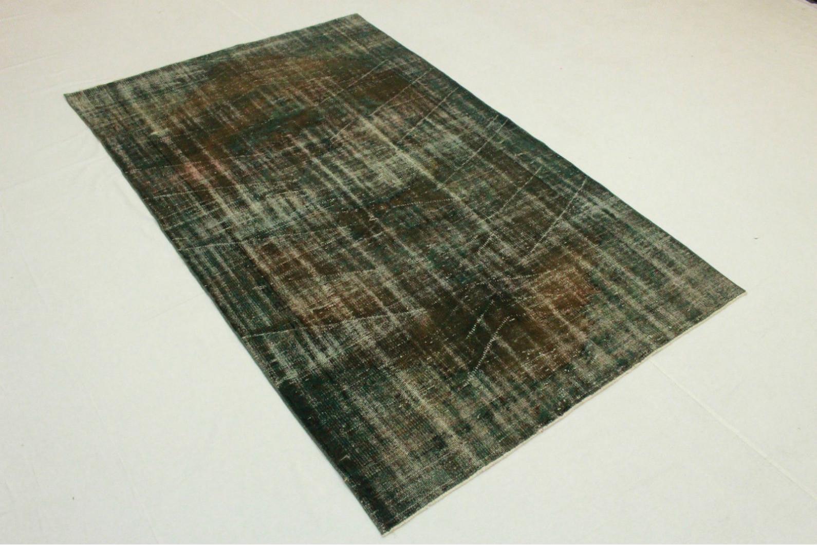 Teppich braun grün  Vintage Teppich Grün Braun in 260x160cm (1011-5117) bei carpetido ...