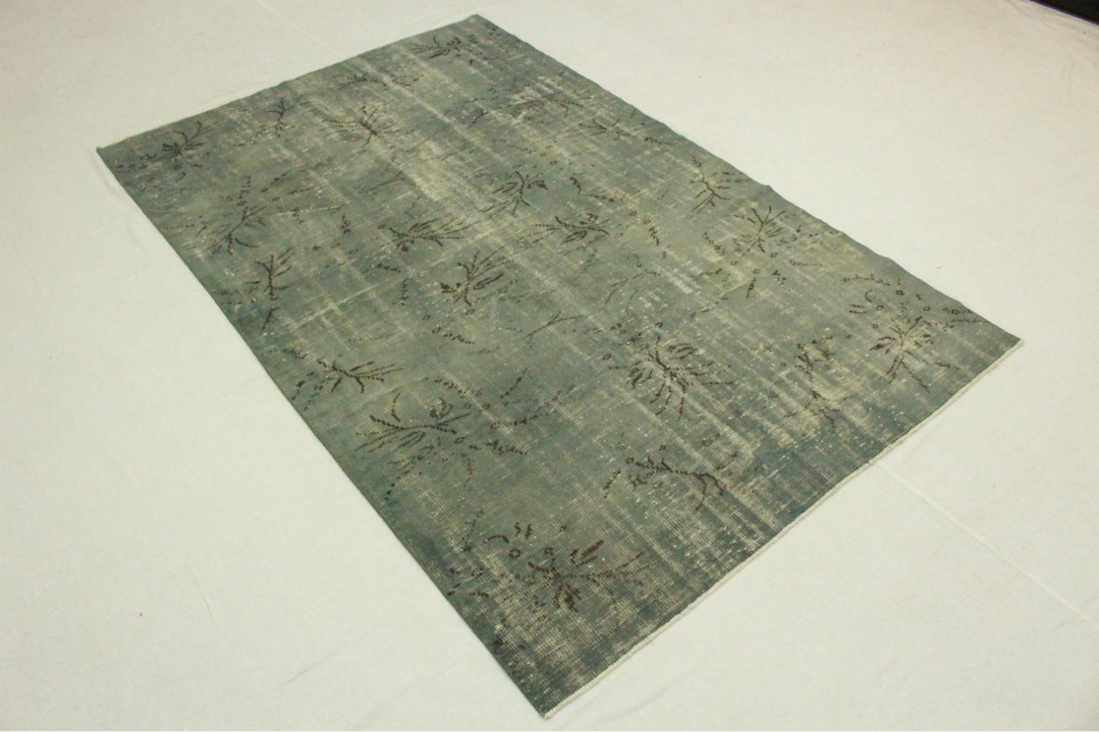 vintage teppich blau grau in 270x180cm 1011 5122 bei kaufen