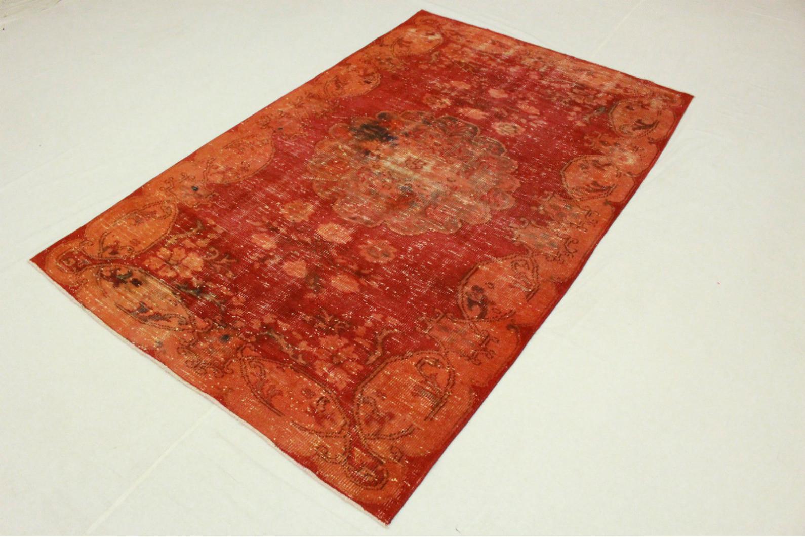 Vintage teppich orange rot in cm