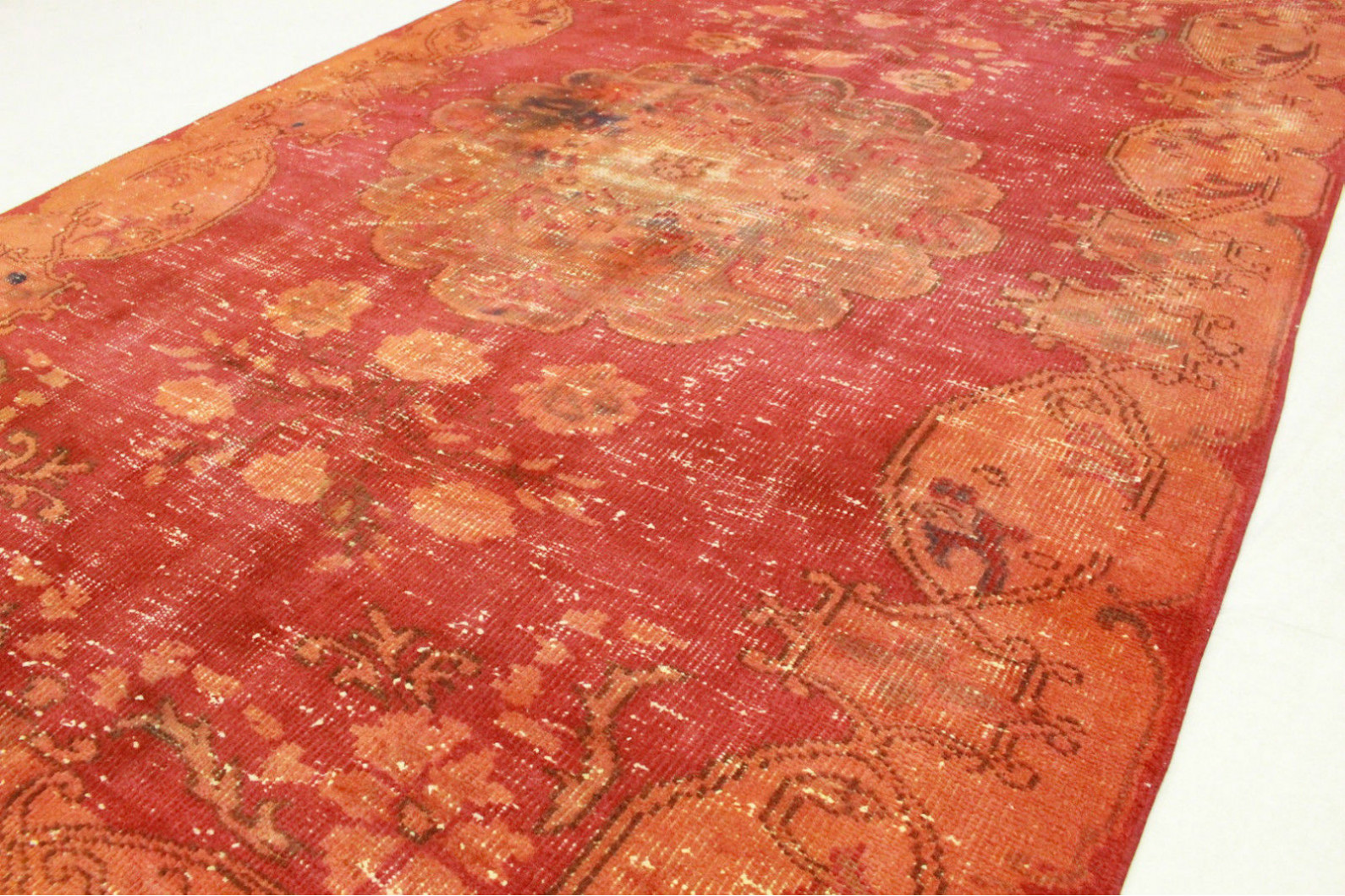 Teppich rot orange vintage teppich orange rot in 260x160cm 1011