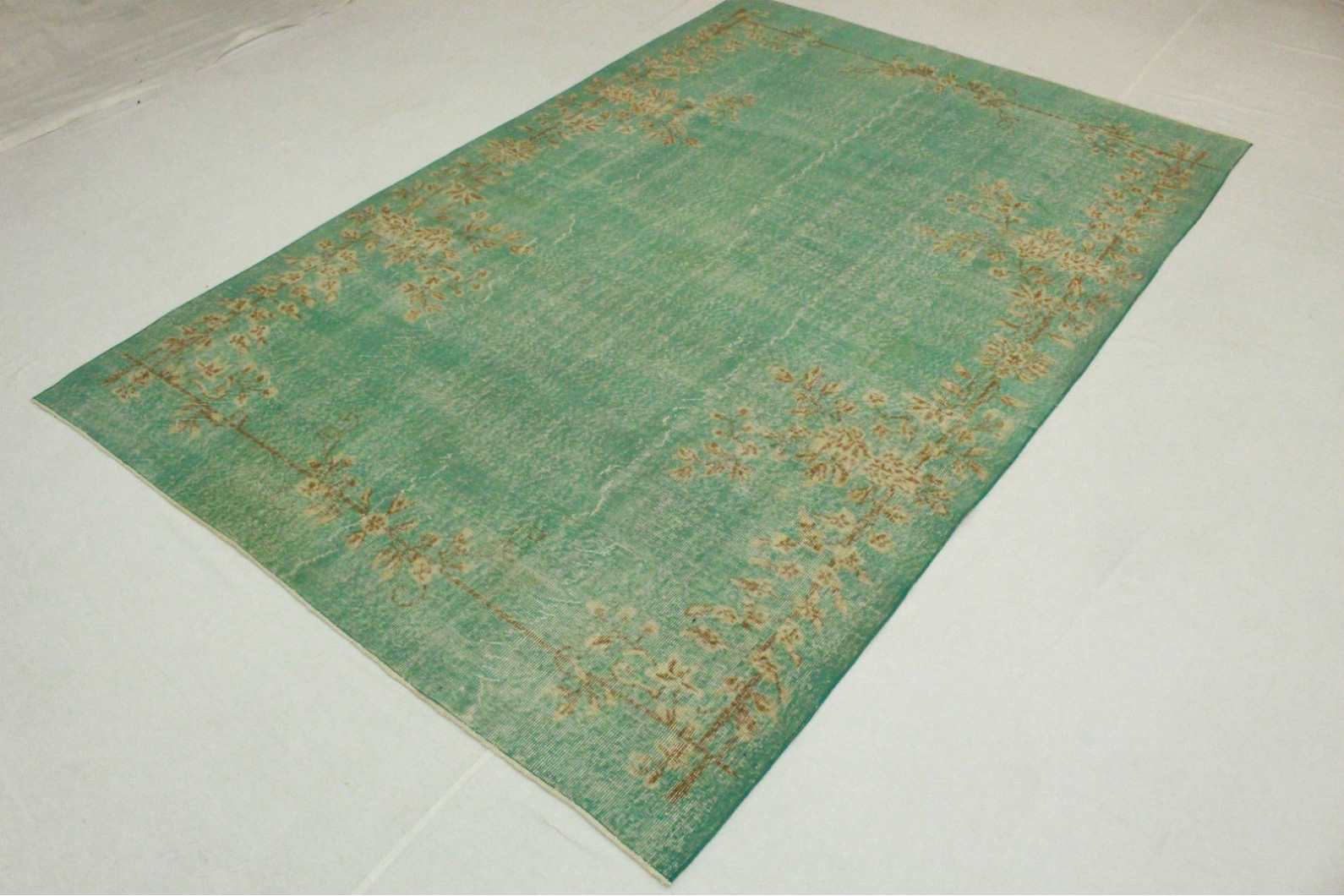 vintage teppich gr n t rkis in 310x200cm 1011 5128 bei. Black Bedroom Furniture Sets. Home Design Ideas