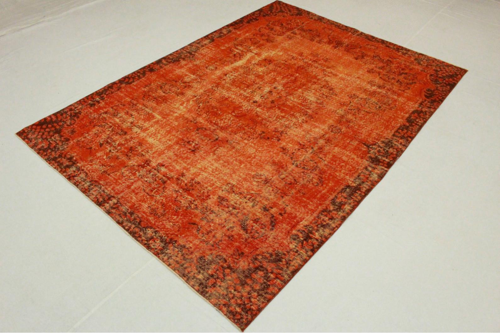 vintage teppich orange in 290x200cm 1011 5132 bei kaufen. Black Bedroom Furniture Sets. Home Design Ideas