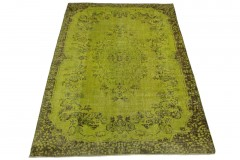 Vintage Teppich Grün Braun in 300x200cm
