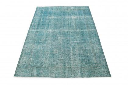 Vintage Teppich Türkis in 310x210