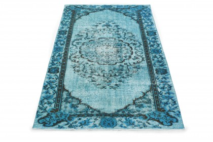 Vintage Teppich 3D-Look Türkis in 260x170