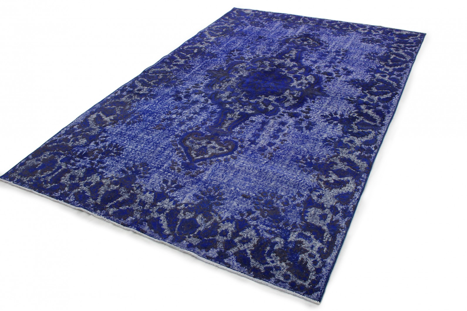 Vintage Teppich 3D-Look Blau in 300x180 (1011-6014) bei carpetido.de ...