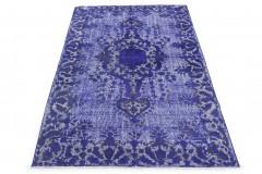 Vintage Teppich 3D-Look Blau in 300x180