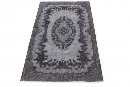 Vintage Teppich 3D-Look Silber Grau in 240x140 1011-6016