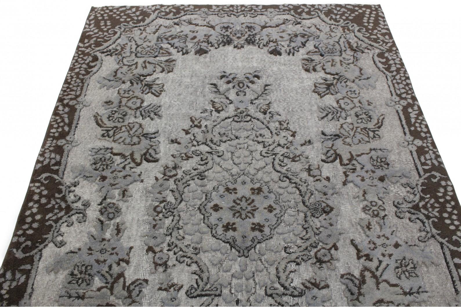 ... Vintage Teppich 3D Look Grau In 270x170 (2/4) ...