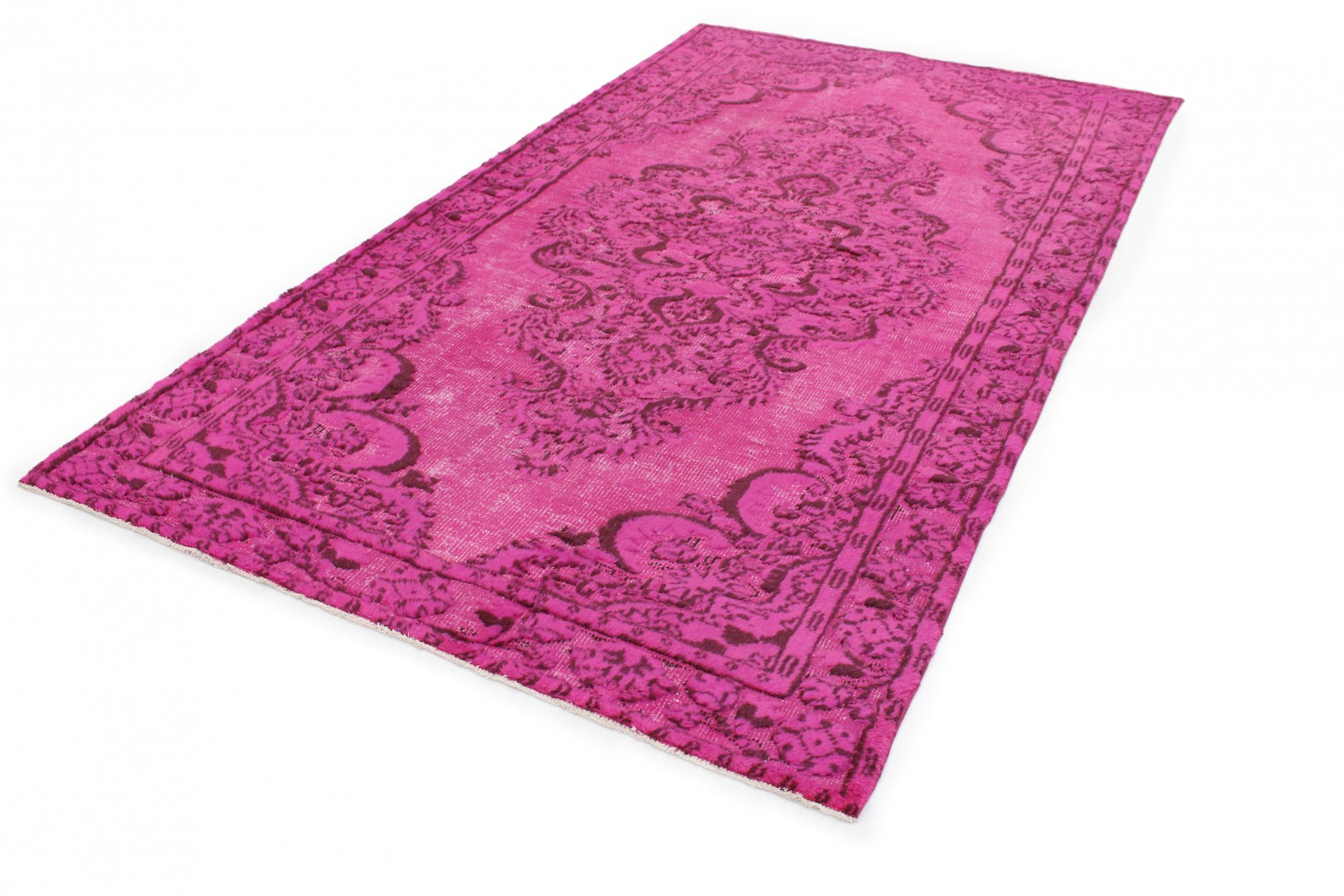 Teppich pink  Vintage Teppich 3D-Look Pink in 310x170 (1011-6021) - carpetido.de