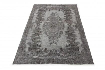 Vintage Teppich 3D-Look Grau in 290x190