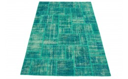 Patchwork Rug Turquoise in 300x220cm