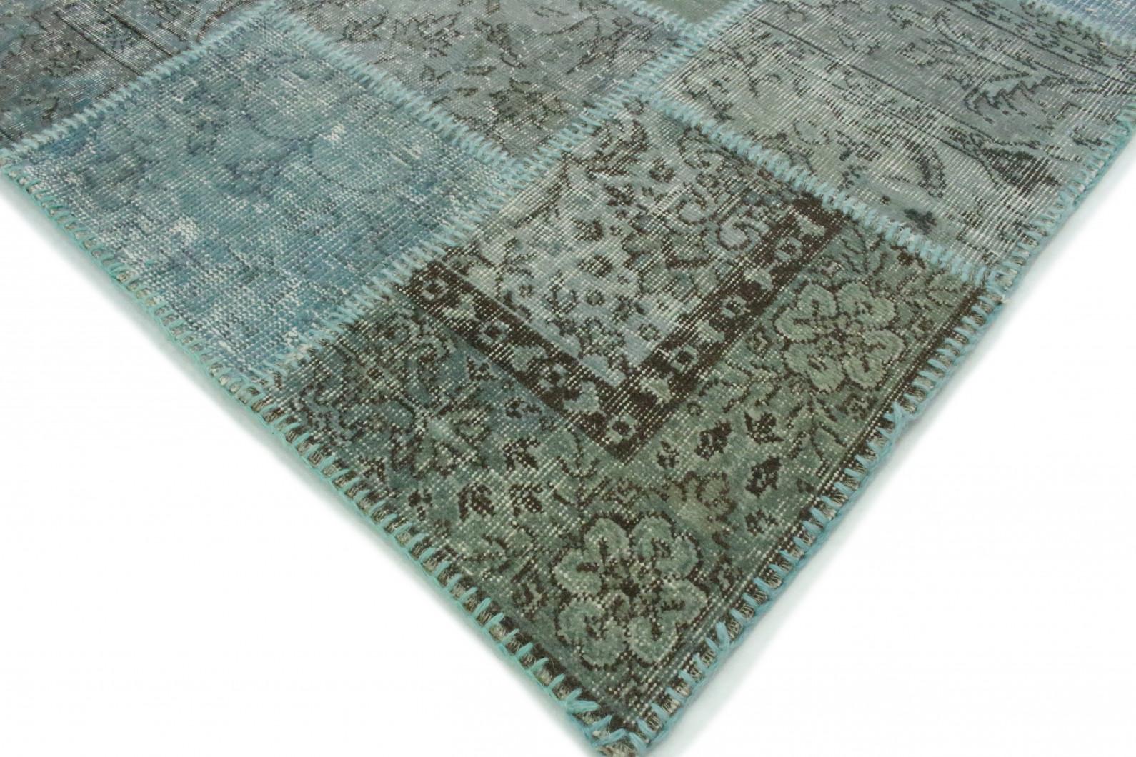 patchwork teppich t rkis in 300x200cm 1011 7281 bei kaufen. Black Bedroom Furniture Sets. Home Design Ideas