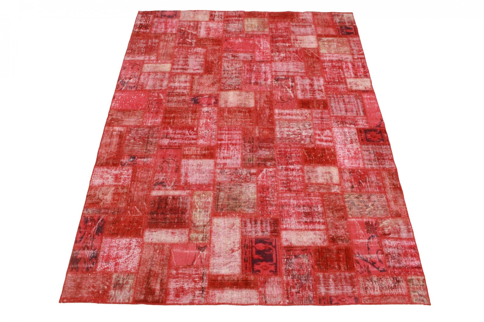 Patchwork Teppich Rot in 300x210cm