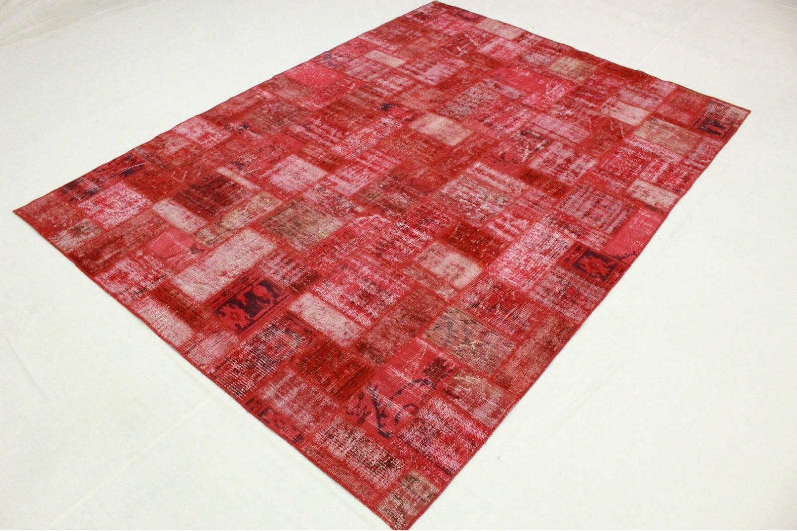 patchwork teppich rot in 300x210cm 1011 7504 bei kaufen. Black Bedroom Furniture Sets. Home Design Ideas