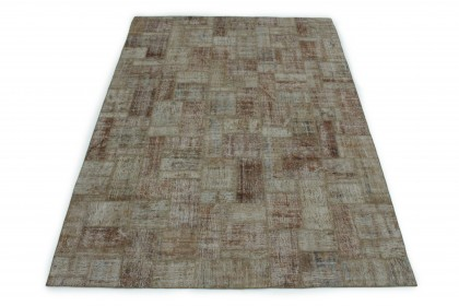 Patchwork Teppich Braun in 300x210