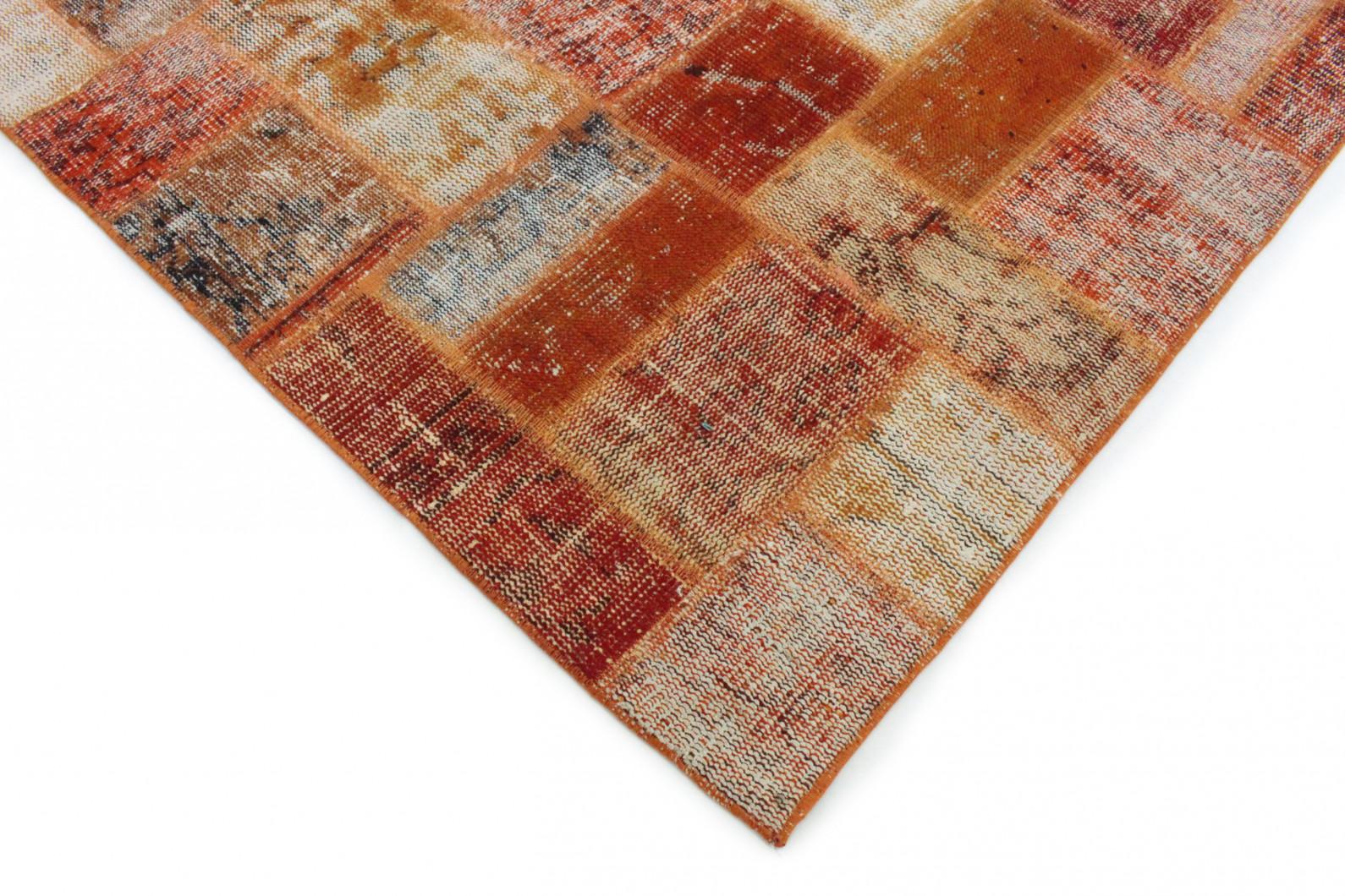 patchwork teppich orange in 300x260 1011 7900 bei. Black Bedroom Furniture Sets. Home Design Ideas