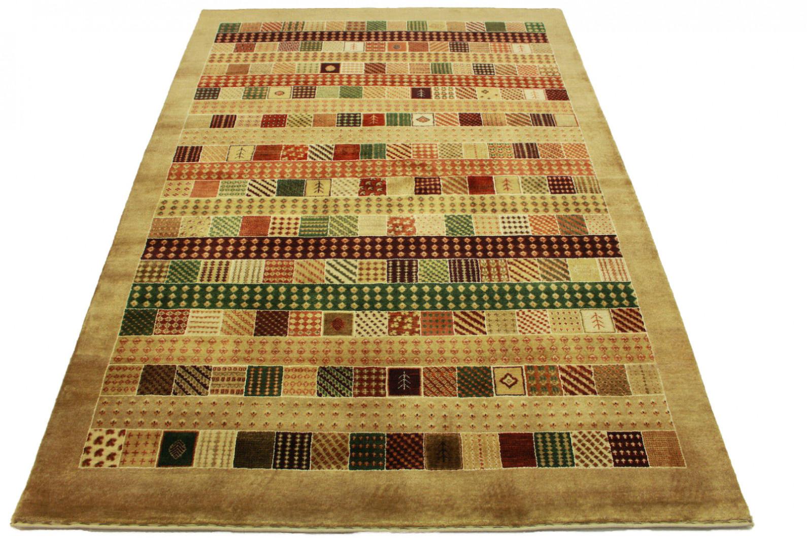 Loribaft teppich grün rot beige in cm bei