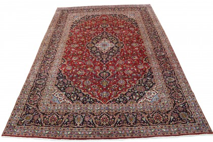 Traditional Vintage Rug Kashan in 410x290