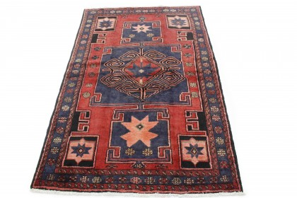 Traditional Vintage Rug Azerbajan in 210x140