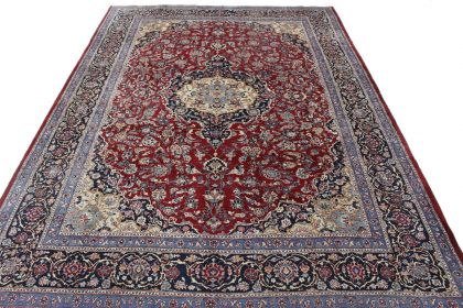 Traditional Vintage Rug Mashad in 410x300